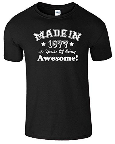 Made In 1976 - 40 Jahre, die fantastisch-Männer Geschenk-T-Shirt Schwarz (Black) / Weiß Design