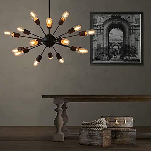 Lingkai 18 Luz Industrial estilo Sputnik lampara colgante l¨¢mpara de ara?a, Iluminaci¨®n de techo vintage