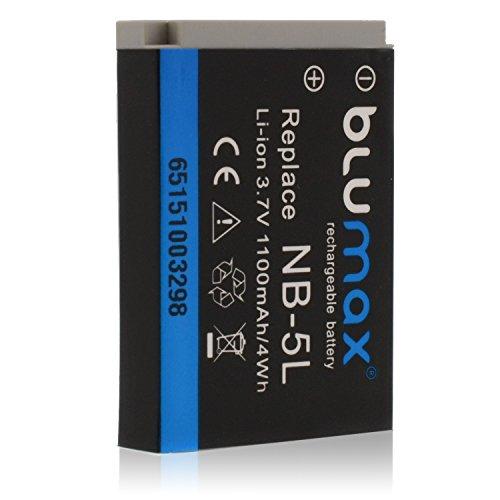 Blumax-Akku-37V-1100mAh-4Wh-fr-Canon-NB-5L-passend-fr-Digital-IXUS-800-IS-850-IS-860-IS-870-IS-90-IS-900-Ti-950-IS-960-IS-970-IS-980-IS-990-IS-IXY-830-IS-IXY-DIGITAL-830-IS-1000-2000-IS-3000-IS-800-IS