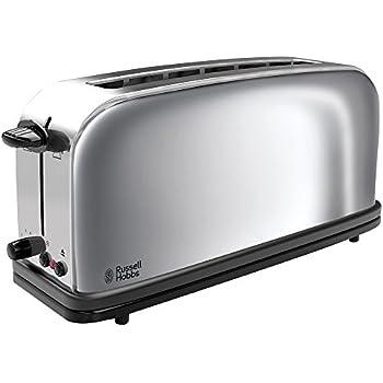 russell hobbs black glass 20370 56 toaster 1080 watt schwarz silber. Black Bedroom Furniture Sets. Home Design Ideas