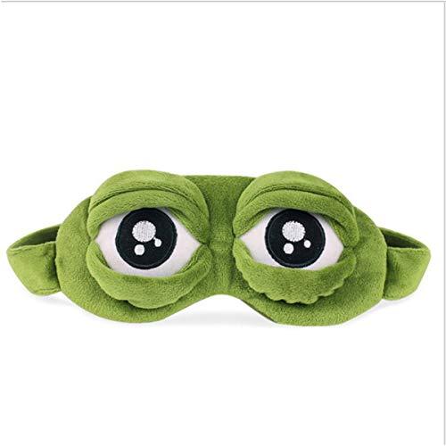 Gugutogo Funny Creative Pepe The Frog Sad Frog 3D Eye Mask Cover Sleeping Rest Cartoon Plush Sleeping Mask Cute Anime Gift