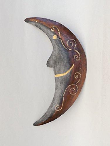 Klp Mond Wanddeko Metall Wandbild Halbmond Deko Garten Figur Skulptur Statue -