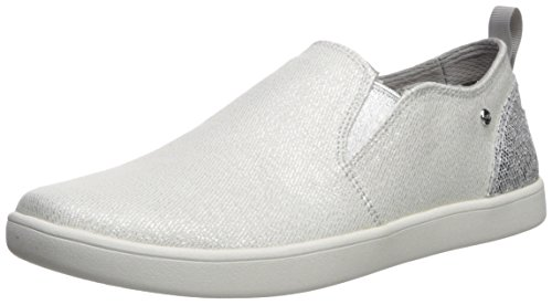 UGG Girls K Gantry Sparkles Sneaker, Silver, 4 M US Big Kid