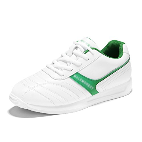 HWF Scarpe donna Scarpe da donna Casual Scarpe sportive da corsa Scarpe piatte da studente piatto bianco ( Colore : White dark blue , dimensioni : 40 ) White Green