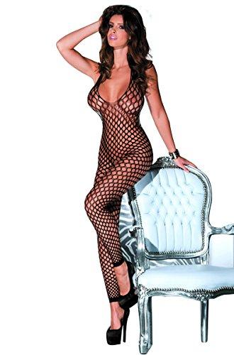 LVYI Netz-Bodystocking mit offenem Schritt, sexy Gr. Einheitsgröße, Style 5