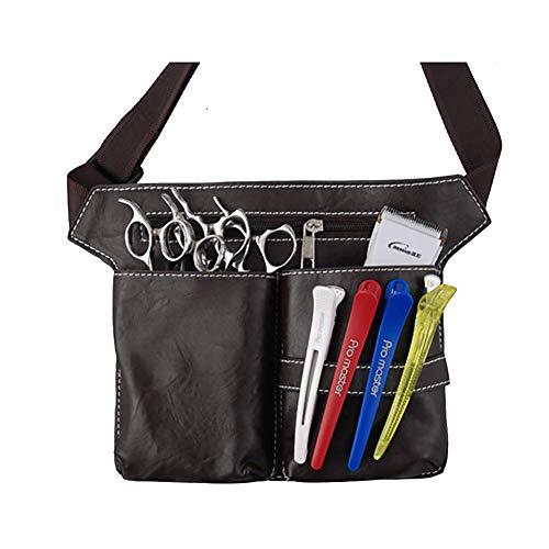 Cinturón de herramientas para hombre, resistente, clásico, de poliuretano, con cinturón, múltiples bolsillos, herramientas de peluquería, organizador de cosméticos para cepillo de pelo
