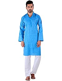 BDS Chikan Kurta for men's Lucknowi Chikan Work BDS00893