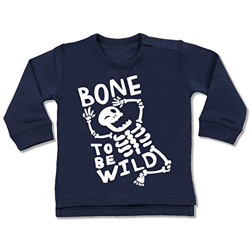 Anlässe Baby - Bone to me Wild Halloween Kostüm - 6-12 Monate - Navy Blau - BZ31 - Baby Pullover