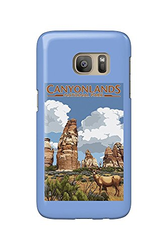 Canyonlands National Park, Utah - Chesler and Deer (Galaxy S7 Cell Phone Case, Slim Barely There)