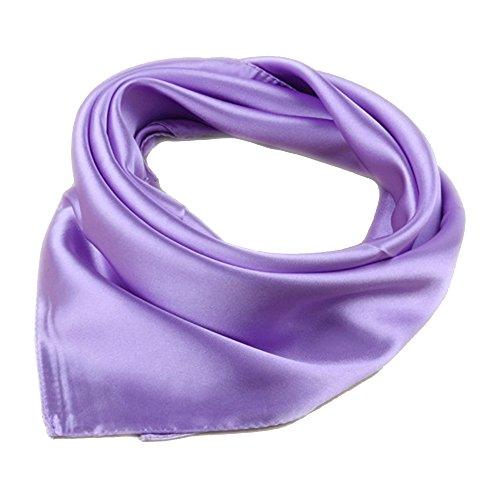 Damen Bandana Head Scarf Neck Scarf-Einfarbig (Hell Violett)