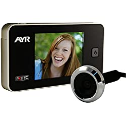 """Ayr EXITEC 752 - Mirilla Digital (pantalla de 3.2"""" 38-110 mm, 0.3 Mp), plateado y negro"""