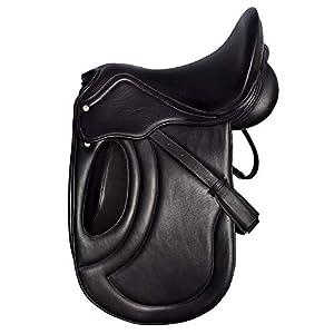 Radical Ledersattel für Englisches Pferde, bequem, Schwarz