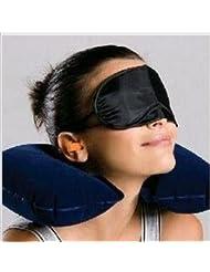 Masque Shade Eye Housse de voyage de repos Blindfold Dormir + oreiller gonflable + de bouchons d'oreille