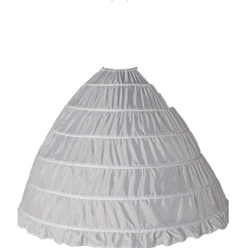 6370f426 Clocolor A-Line Mujer Enagua Miriñaque Blanca de la boda accesorios de la  boda Enagua