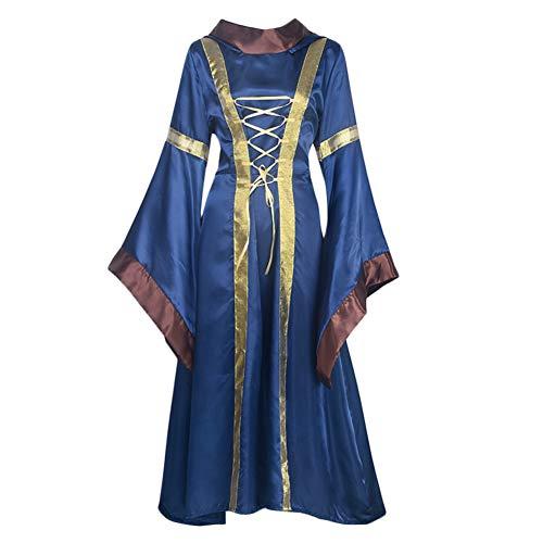 Kostüm Hexe Viktorianische - Halloween Cosplay Kostüm Hexe viktorianisches Kleid Frauen Hexe Renaissance Kleid Ball xl blau