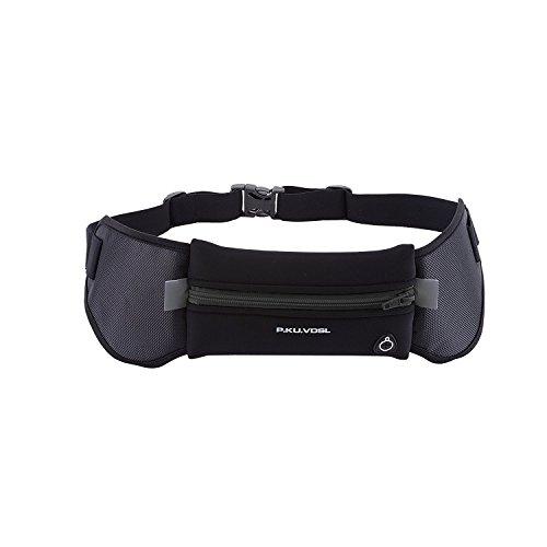 Sport Hüfttasche, P.KU.VDSL Bauchtasche Laufgürtel, Waist Bag Gürteltasche mit Kopfhörerkabel-Loch, Wasserdicht Verstellbar Gurt Lauftasche Hüfttasche Geeignet für iPhone 6s plus