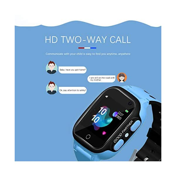 BOBOLover Smartwatch Niños, Reloj Inteligente para Niños Impermeable ip67 con LBS, Hacer Llamadas, Chat de Voz, SOS… 3