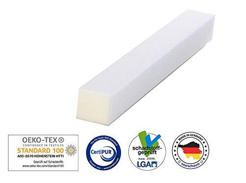 saarschaum Schaumstoffstreifen Matratzenverlängerung Matratzenausgleich Zuschnitt Polster RG2540 10x15x120cm