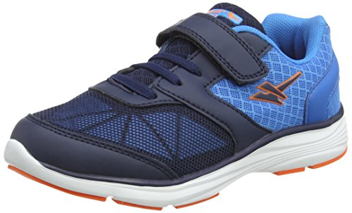 Gola Unisex-Kinder Geno Velcro Outdoor Fitnessschuhe, Blau (Navy/Blue/Orange), 28 EU (Casual Velcro Navy Schuh)