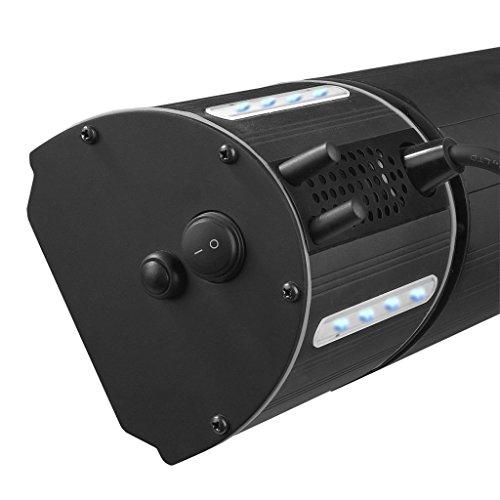 Heizstrahler mit Bluetooth Lautsprechern und farbigen Backlight (Schwarz) - 3