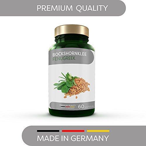 Extrem hochdosierte (5.500mg) Bockshornklee Kapseln von MoaVital - Kompletter Monatsvorrat (60 Kapseln) im Sparpack - 100% vegan, laktosefrei und glutenfr