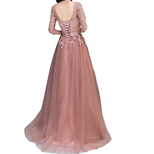 Charmant Damen Dunkel Rosa Spitze langes Abendkleider Promkleider Ballkleider Festlichkleider Neuheit Dunkel Blau