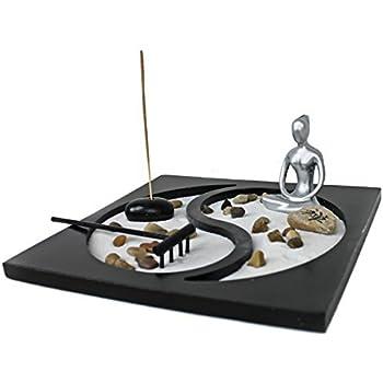 Giardino Zen Ying Yang Armonia Lady Yoga Porta Incenso Soprammobile Decorazione Ambiente Asiatica
