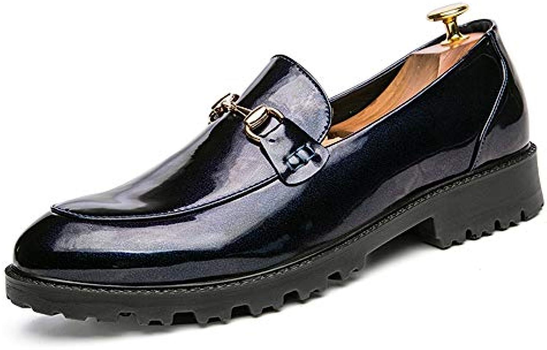 Yajie-scarpe, Scarpe Formali Formali Formali in Pelle Verniciata Decorativa Anteriore in Metallo Oxford per Uomo (Coloree   Blu,... | Sconto  | Uomini/Donna Scarpa  120f43