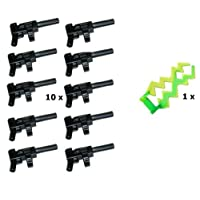 LEGO Star Wars Guns Automatic (Pack of 10) Green and a ray of light