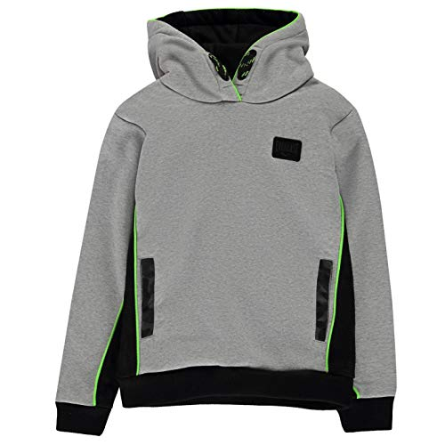 Everlast Jungen Premium OTH Kapuzenpullover mit 2 Taschen Grau Marl L -