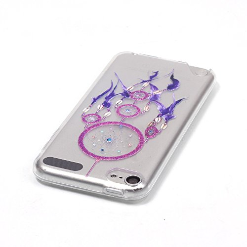 iPod Touch 6th Coque, Aeeque® Fleurs de Dentelle Blanc Dessin Transparent Crystal Silicone Doux TPU Protection Contre les Chutes Case Cover Housse Etui pour iPod Touch 5th/6th Motif #4