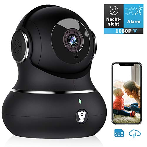 Kamera-handy (Überwachungskamera, Littlelf WLAN IP Kamera 1080P HD WiFi Kamera mit 360°Schwenkbare Baby Monitor, Zwei-Wege-Audio, Bewegungserkennung, Nachtsicht, unterstützt Fernalarm und Mobile App Kontrolle)