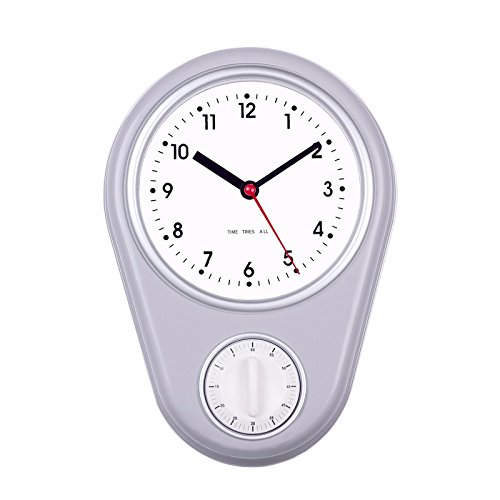 FortuneVin Wanduhr Clock Home Dekorationen hängende Uhren Mute Mini, Grau
