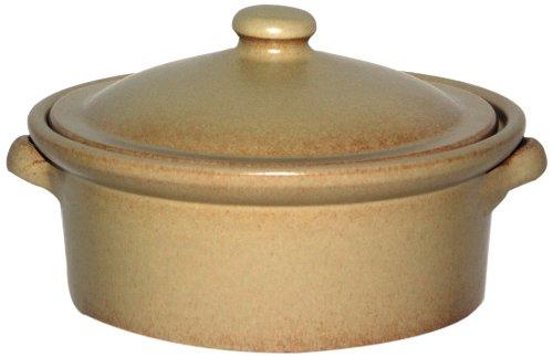 Amazing Cookware Cocotte en terre cuite avec couvercle Crème 2l