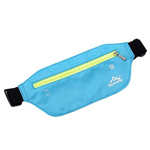 Trada Brusttasche, Mode Outdoor Sport Neutral Reine Farbe Wasserabweisend Nylon Umhängetasche Brusttasche Strandtasche Frauen Messenger Umhängetasche Gürteltasche (Himmelblau)