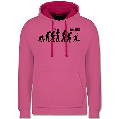 Evolution - Basketball Evolution - Kontrast Hoodie Rosa/Fuchsia