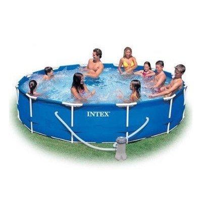 Preisvergleich Produktbild omcon (TM) Intex 28211eg Familie Größe Rahmen Rund Metall Pool Set,  12 'x 76, 2 cm