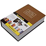 Fariox Book Safe Type Dictionary Simulation Carrying Case Secret Safety Security Storage Box (180 x 115 x 55 mm, Black)