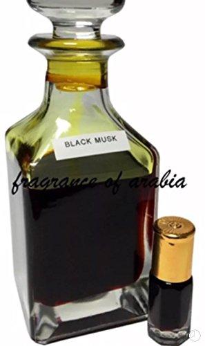 """Black Musk Parfüm (""""schwarzer Moschus""""), 3ml, exotisches Parfüm-Öl, Itr, Rosenöl, von Paradise Perfums & Gems."""