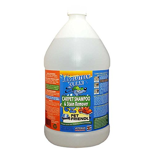 Absolutely Clean Pet Friendly Carpet and Upholstery Shampoo, Stain Remover/Leather Cleaner, Remove Stains in 60 Seconds, Cleans Over 2,400 sq. ft.