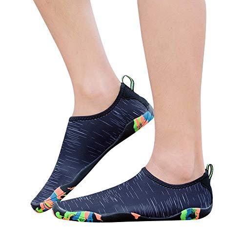 Moika unisex outdoor sport scarpe diving scarpe nuoto scarpe yoga scarpe creek scarpe (270/45, nero)