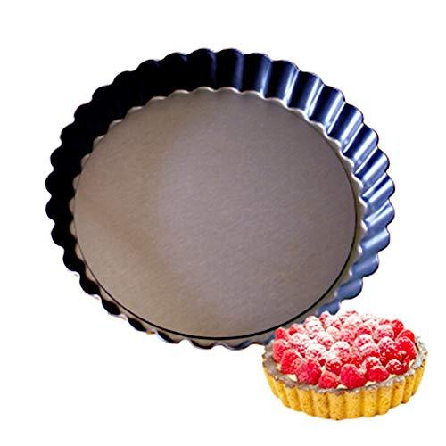 Ayuboom Tarteform,Quicheform 22cm,Nonstick Round Tart Torte Baking Pan,Obstkuchenform und Backform mit Entfernbarem Antihaftbeschichtung (22CM/8.7IN)