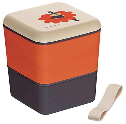 Skaters Boîte à Repas Simple en Grain de Bois 600 ML à 2 Niveaux - Boîte à bento carrée - Mimura The Moomins slbws6wb