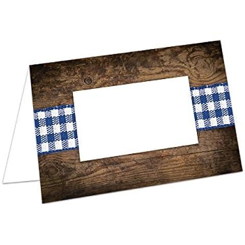 25tarjetas de mesa azul blanco Bayerisch cuadros–Estructura de Madera de Bavaria; en papel extra estable y con cualquier espacio de lápiz para escribir–Tarjetas o asiento kärtche nuevo de nuestra pequeñas Manufaktur en Baviera.