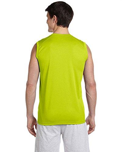 New Balance - Maglietta sportiva - Asimmetrico -  uomo Safety Green