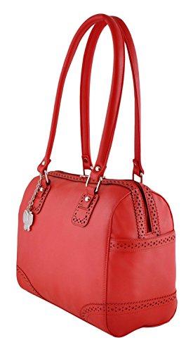 Butterflies dames de bourse sac à bandoulière sac à main en faux cuir rouge