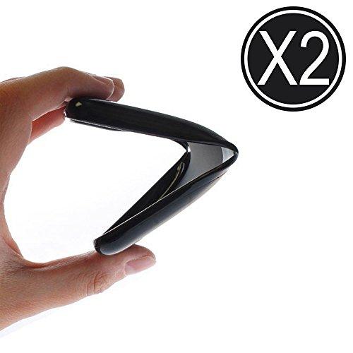 WoowCase - [ Oukitel C3 Schutzhülle Silikon [ 2-Pack Schwarz ] Hülle Handy Case Cover