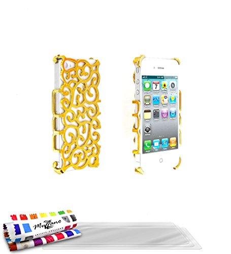 "Coque Semi-Rigide Ultra-Slim APPLE IPHONE 4 / IPHONE 4S [La Sport Case Premium] [Gris perle] de MUZZANO + 3 Films de protection écran ""UltraClear"" + STYLET et CHIFFON MUZZANO® OFFERTS - La Protection  Dore + 3 Films de Protection Ecran"