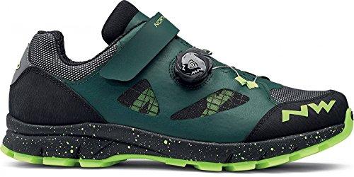 Zapatos de bicicleta de montaña NORTHWAVE TERREA PLUS verde / negro / amarillo, Tamaño:gr. 43