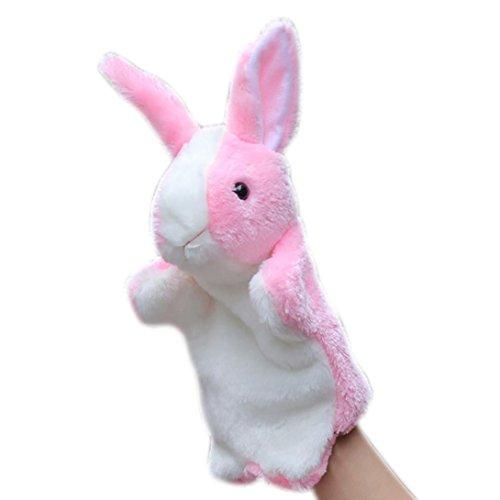 �t Kaninchen Hand Cute Cartoon Tier Puppe Kinder Handschuh Handpuppe Kaninchen Plüsch Bunny Finger Spielzeug (Rosa) (Cartoon Handschuhe, Die Hände)